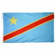 2' X 3' Nylon Democratic Republic of Congo Flag