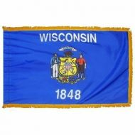 3' X 5' Nylon Indoor/Parade Wisconsin State Flag