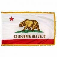 4' X 6' Nylon Indoor/Parade California State Flag - Fringed or Unfringed