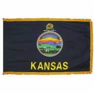4' X 6' Nylon Indoor/Parade Kansas State Flag
