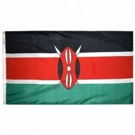 4' X 6' Nylon Kenya Flag