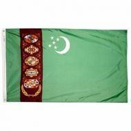 5' X 8' Nylon Turkmenistan Flag