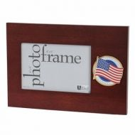 American Flag Medallion Desktop 4 X 6 Inch Picture Frame