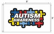 Autism Awareness Flag