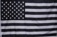 Black and White US Flag
