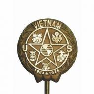 Cast Bronze Vietnam War Veteran Grave Marker