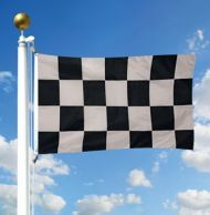 Black & White Checkered Racing Flags