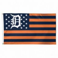 Detroit Tigers Stars and Stripes Flag