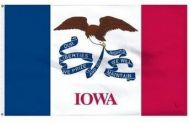 Economy Printed Iowa State Flags