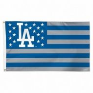 LA Dodgers Stars and Stripes Flag