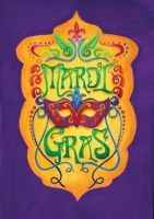 Masquerade Decorative Mardi Gras Garden Flag