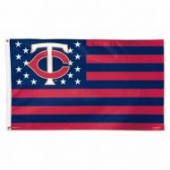 Minnesota Twins Stars and Stripes Flag