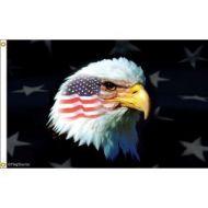 Patriotic American Eagle Flag
