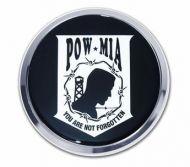 POW/MIA Chrome Auto Emblem
