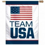Team USA Vertical Flag - White