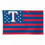 Texas Rangers Stars and Stripes Flag