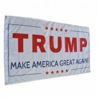White Donald Trump Make America Great Again Flag