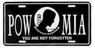 POW-MIA License Plate