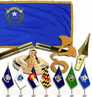 Indoor Mounted Nevada State Flag Sets