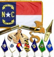 Indoor Mounted North Carolina State Flag Sets