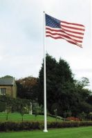 Fiberglass Flagpoles with External Halyards