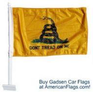 Premium Gadsden Car Flag