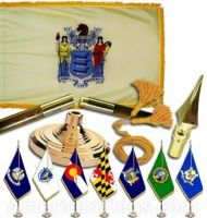 Indoor Mounted New Jersey State Flag Sets