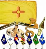 Indoor Mounted New Mexico State Flag Sets