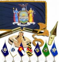 Indoor Mounted New York State Flag Sets