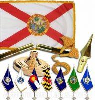 Indoor Mounted Florida State Flag Sets