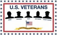 US Armed Forces Veterans Support Flag