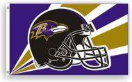 3' X 5' Baltimore Ravens Helmet Flag