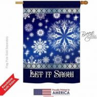Let It Snow Dream House Flag