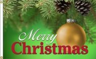 Merry Christmas Ornament Flag