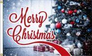 Merry Christmas Tree Flag