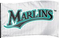 3' X 5' Miami Marlins Classic Pinstripe Flag