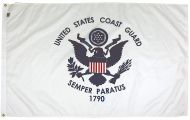 4' X 6' Mil-Tex Military-Grade Coast Guard Flag
