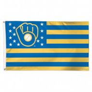 Milwaukee Brewers Stars and Stripes Flag