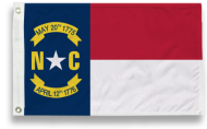 State-Tex Commercial Grade North Carolina State Flag - 5 ft X 8 ft