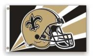 3' X 5' New Orleans Saints Helmet Flag