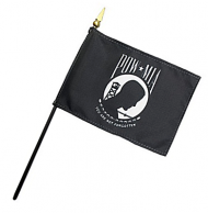4 X 6 Inch POW-MIA Stick Flags