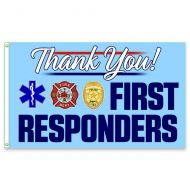 Thank You First Responders Premium Flag