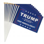 Trump 2020 KAGA Handheld Mini Flags (1 Dozen)