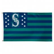 Seattle Mariners Stars and Stripes Flag
