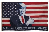 Trump MAGA Thumbs-Up Flag