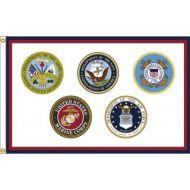 US Armed Forces Logo Flag