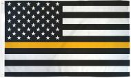 Lightweight Printed Thin Gold Line US Flag