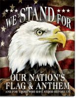 We Stand Vintage Tin Sign