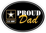 Proud Dad Army Star Magnet