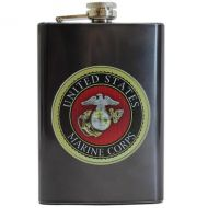 Stainless Steel USMC Emblem Flask